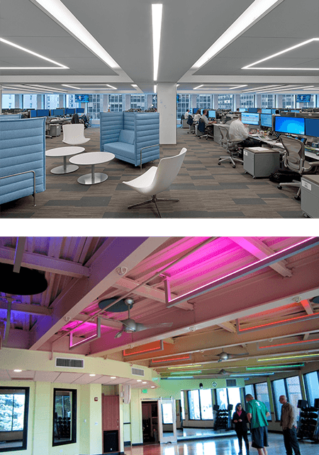 commercial lighting agency with industrial designer fixtures